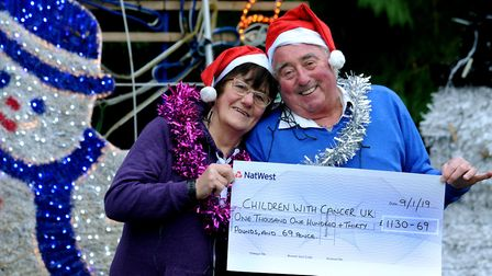 David and Sheila Fairweather from Barrow have raised over �1,100 for Children with Cancer UK from th