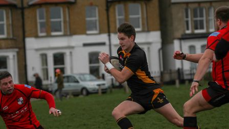 Josh Wallis on the run for Southwold in their come-from-behind win over South Woodham Ferrers. Pictu