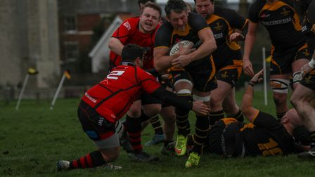 Southwold's Jonny Mayall rumbles through. Picture: LINDA CAYLEY