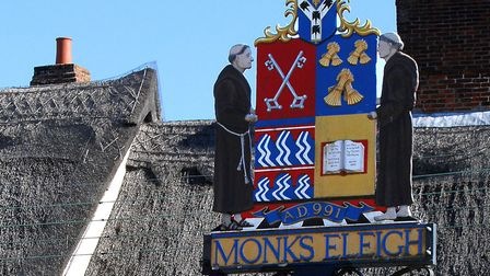 The village sign in Monks Eleigh. Picture: ARCHANT LIBRARY
