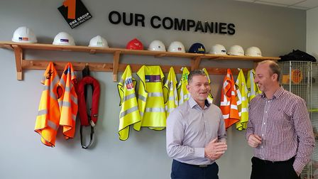 From left, Brian Crofton and Richard Neall of Jackson Civil Engineering Picture: JACKSON CIVIL ENGI