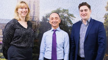 Samantha Owen, Tony Yousefian and Elliot Basford of Beckett Investment Management Picture: PHILIP