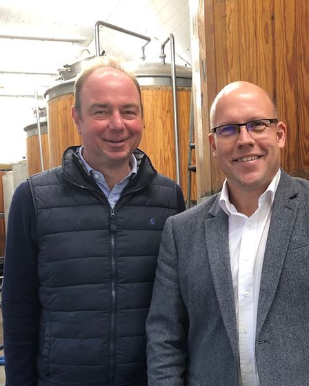 Rob Breakwell, left, and John Hadingham of St Peter's Brewery Picture: JOHN HADINGHAM