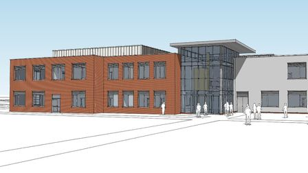An artist's impression of the new skills centre that will be opened in Lowestoft in the autumn of 20