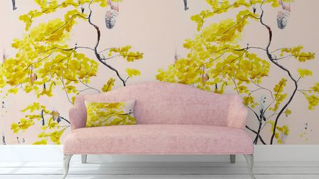 Chinese Tree in Blush Mural Wallpaper, �395, Anna Jacobs. Picture: PA Anna Jacobs/Photo/Handout.