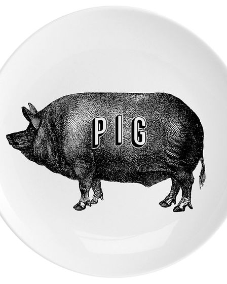Pig fine China 10 inch Plate, �35, Chase & Wonder. See PA Feature INTERIORS Chinese. Picture: Chase