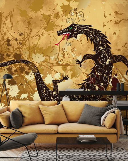 Dragon On A Background Grunge, from �26 per square metre, Wallsauce. Picture: Wallsauce/PA/Photo/Han