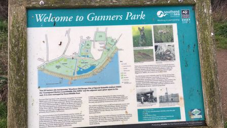 Gunners Park, the home to the weekly Southend parkrun at Shoeburyness.