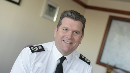 Gareth Wilson, Suffolk's current Chief Constable, is set to retire in April. Picture: SARAH LUCY BR