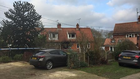 The house where Clive Connelly died in a fire in Yoxford. Picture: ANDREW PAPWORTH