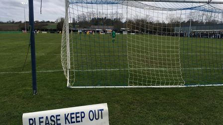 A sign of Hadleigh United's current plight? They are second-from-bottom of the Thurlow Nunn Premier