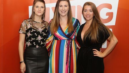 Members of iGO4's Health and Wellbeing team at the Living Sport Awards, Tori Bradshaw finanncial acc