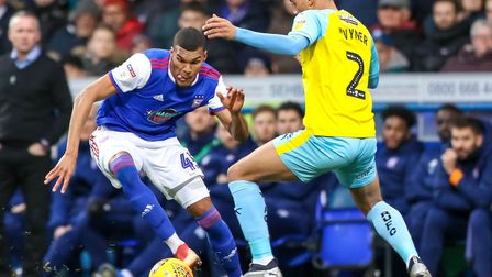 New Huddersfield Town loanee Collin Quaner (left) led the line as Ipswich Town beat Rotherham 1-0 at