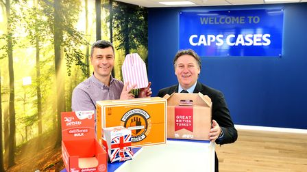 It was a busy Christmas for Caps Cases, based in Newmarket. Managing director Trevor Bissett and Ma