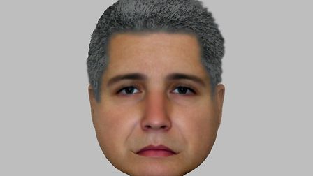 Police have released this e-fit of a man they would like to speak with in regards to the Lavenham bu