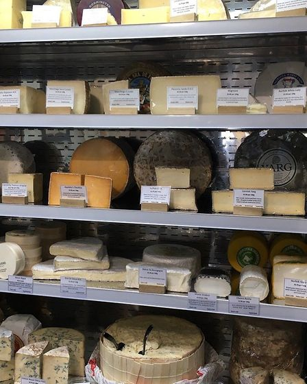 The fabled wall of cheese at the Slate store Picture: EMMA KINDRED