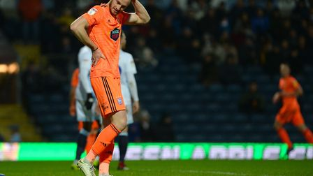 Will Keane is left scratching his head at Ewood Park Picture Pagepix