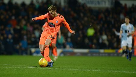The ball falls to Teddy Bishop on the edge of the Blackburn area but his effort was blocked Picture