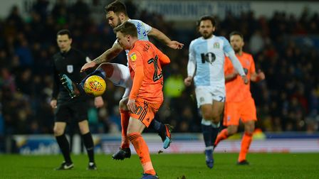 Freddie Sears battles in the penalty area at Blackburn Picture Pagepix