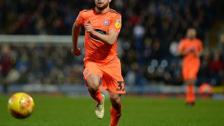 New Ipswich signing Alan Judge gets to the ball first against Blackburn Picture Pagepix