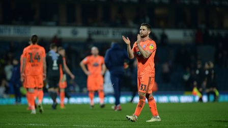 Alan Judge applauds the travelling fans at Blackburn Picture Pagepix