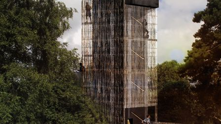 A computer-generated image of the viewing tower to be built at Sutton Hoo Picture: NISSEN RICHARDS S
