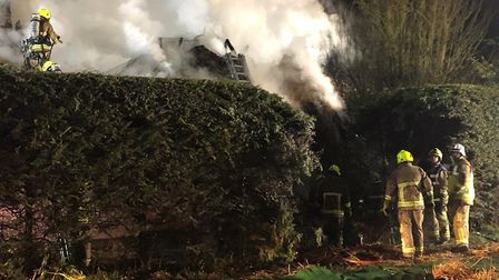 Crews are expected to remain at the scene in Harts Lane, Ardleigh, overnight Picture: JAKE FOXFORD