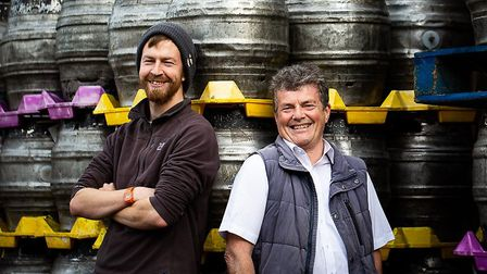 Bob Bullock and Neil Bain of Woodfordes Brewery are among the finalists in the East of England Co-op