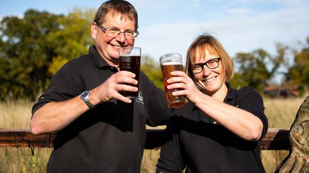 David and Rachel Holliday of Norfolk Brewhouse are among the finalists in the East of England Co-op