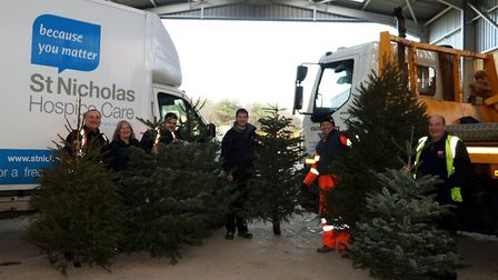 More than £2,000 was raised for St Nicholas Hospice Care through the Christmas tree collection servi