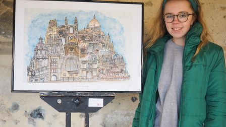 Holly Armstrong, from Long Melford, is one of the students exhibiting at St Edmundsbury Cathedral Pi