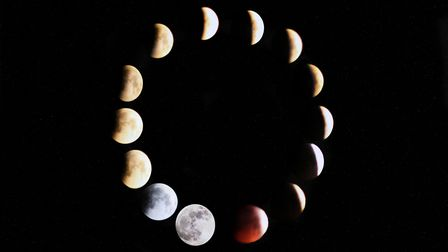 Some photographers created montages to depict the full eclipse Picture: BOBBY FORSYTHE
