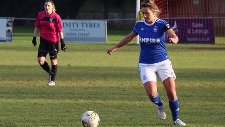Town captain Natalie Richardson in action during her final game for the Blues Picture: ROSS HALLS