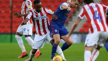 Jonas Knudsen in action against Stoke - one of the clubs said to be plotting a January move for his
