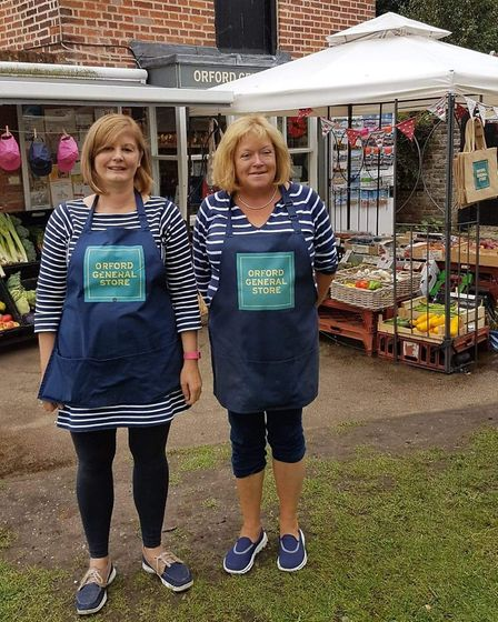 From left, Orford General Store manager Sue Gadd and owner Sue Snowdon Picture: SUE GADD