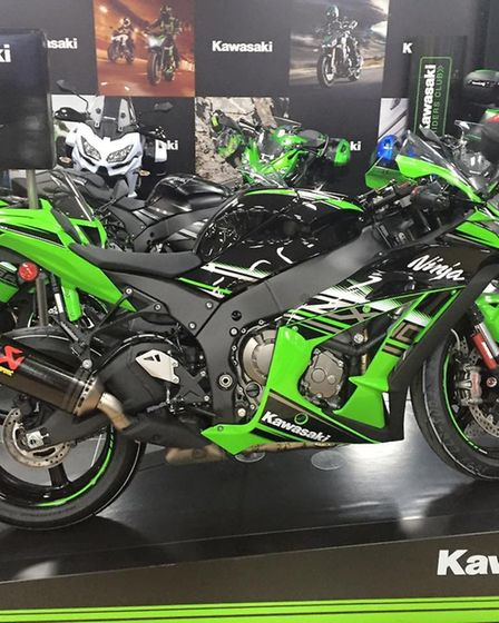 Tommy Munro�'s Kawasaki� ZX-10R was stolen in a burglary in Stanway, near Colchester. Picture: TOMMY