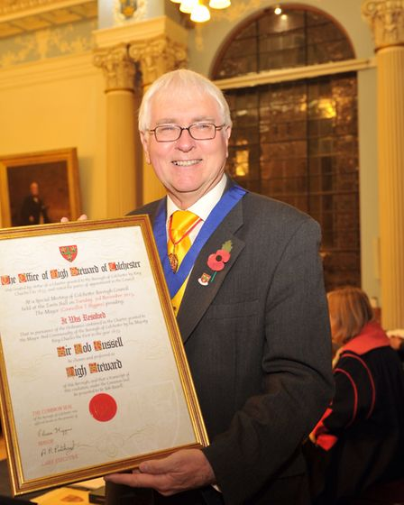 After his time as Liberal Democrat MP for Colchester, Sir Bob became Colchester's High Stewart, a ro