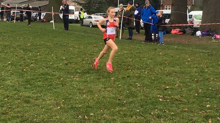 Ruby Vinton, pictured on her way to victory at the recent Suffolk Schools Series B Championships at