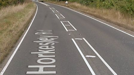The road near Nayland is expected to remain closed for several hours Picture: GOOGLE MAPS