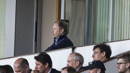 Ipswich Town owner Marcus Evans watches the Blues at Portman Road. Picture: STEVEN GARDINER