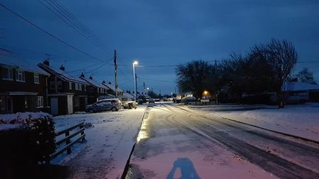 Snow last night Picture: CARL KING