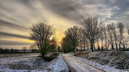 A light dusting of snow fell in Lindsey, Suffolk. Picture: ALISON TAYLOR