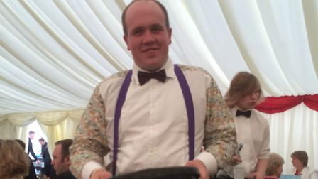 Josh at the Bury St Edmunds Young Farmers Club's 50th Anniversary Ball at Thurston RUFC in 2016. He