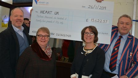 More than £13,500 was donated to Heart UK thanks to the fundraiser Picture: HEART UK