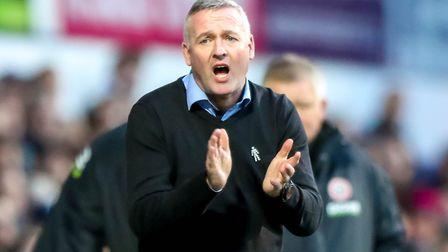 Paul Lambert's team are seven points from safety with just 17 games left. Picture: STEVE WALLER
