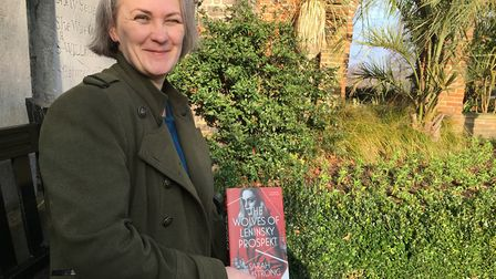 Sarah Armstrong with her third published novel. 'I've read it takes 10 years to do your 'writing app