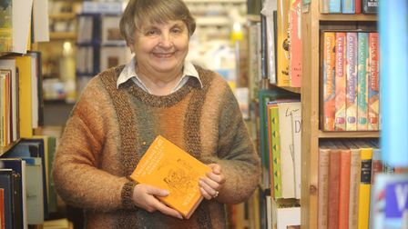 Jane Haylock of Idler Books in Hadleigh holds one of her chosen books at the shop.