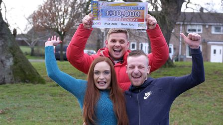 Roxanne Wishart and Carl Kent from Bury St Edmunds were one of four houses to win �30k with the Peop