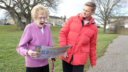 Pamela Lynch was over the moon to receive �30k on the People's Postcode Lottery. Picture:PHILIP-REES