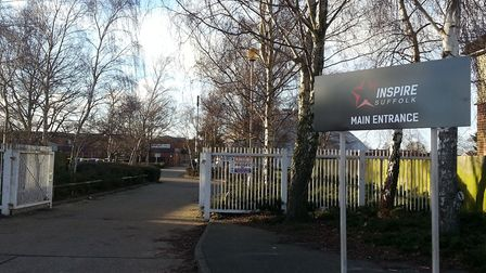 Inspire Suffolk's main entrance in Lindbergh Road, Ipswich. Pic: Inspire Suffolk